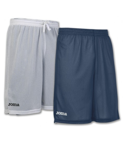 Joma Rookie Reversible Basketball Shorts - White / Navy