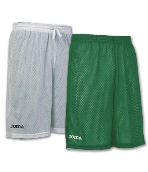 Joma Rookie Reversible Basketball Shorts - White / Green