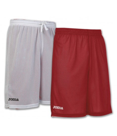 Joma Rookie Reversible Basketball Shorts - White / Red