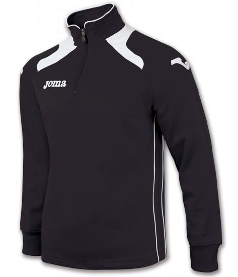 Joma Champion II 1/4 Zip Sweatshirt Polyfleece - Black / White