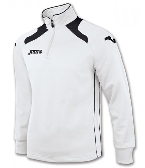 Joma Champion II 1/4 Zip Sweatshirt Polyfleece - White / Black