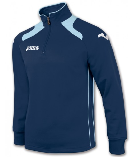 Joma Champion II 1/4 Zip Sweatshirt Polyfleece - Navy / Sky Blue