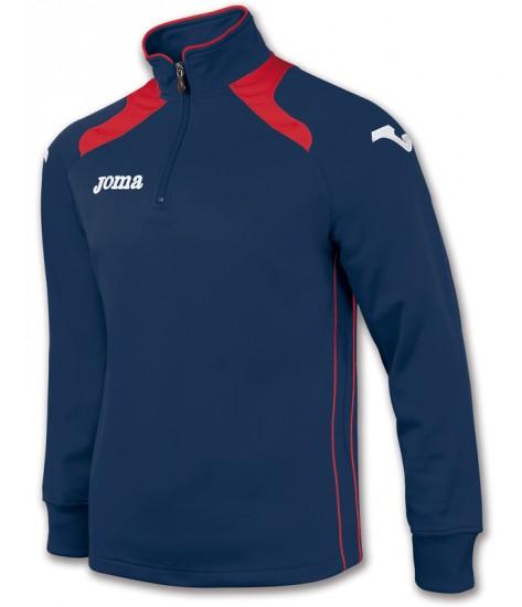 Joma Champion II 1/4 Zip Sweatshirt Polyfleece - Navy / Red