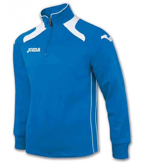 Joma Champion II 1/4 Zip Sweatshirt Polyfleece - Royal Blue / White
