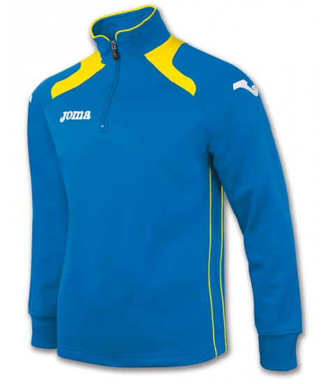Joma Champion II 1/4 Zip Sweatshirt Polyfleece - Royal Blue / Yellow