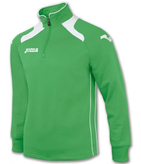 Joma Champion II 1/4 Zip Sweatshirt Polyfleece - Green / White