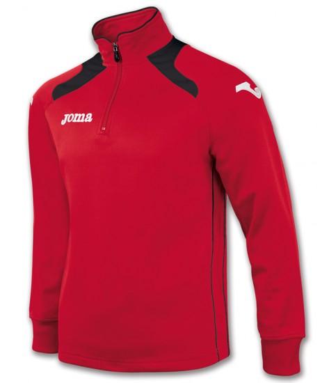Joma Champion II 1/4 Zip Sweatshirt Polyfleece - Red / Black