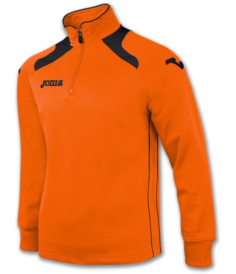 Joma Champion II 1/4 Zip Sweatshirt Polyfleece - Orange / Black