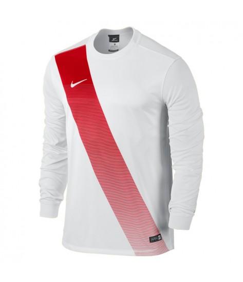 Kids Nike LS Sash Jersey - White / University Red