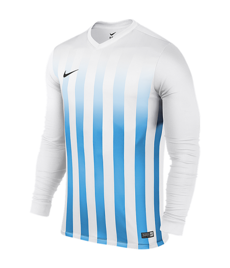 Nike LS Striped Division II Tee - White / University Blue