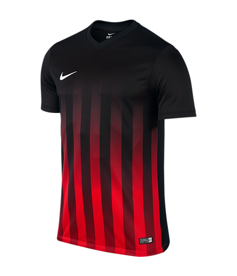 Nike SS Striped Division II Tee - Black / University Red