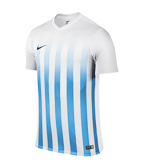 Kids Nike SS Striped Division II Tee - White / University Blue
