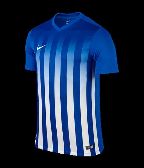 Kids Nike SS Striped Division II Tee - Royal Blue / White