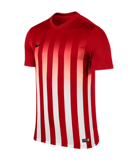Nike SS Striped Division II Tee - University Red / White