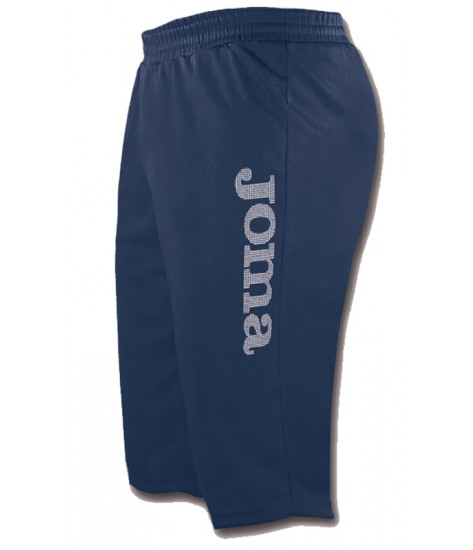 Joma Combi Poly Fleece Bermuda Short Navy / White