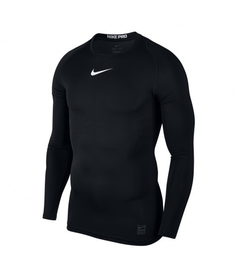 Nike Pro Crew Compression LS Top - Black
