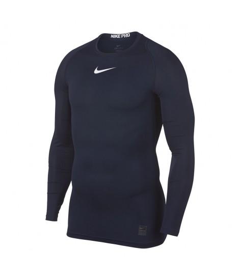Nike Pro Crew Compression LS Top - Obsidian / White