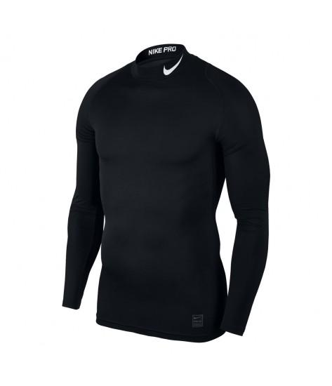 Nike Pro Mock Compression LS Top - Black/White