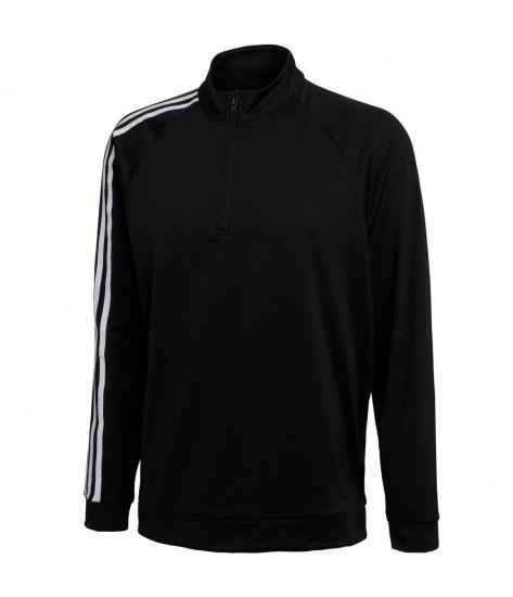 Adidas 3 Stripe 1/4 Zip Layering Top - Black
