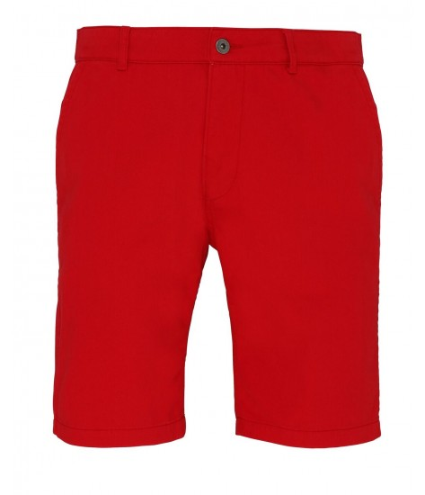 Asquith & Fox Chino Shorts - Cherry Red