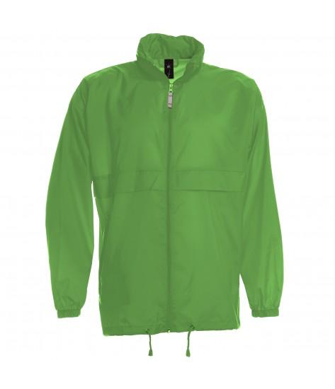 B&C Mens Sirocco Windbreaker Jacket - Green