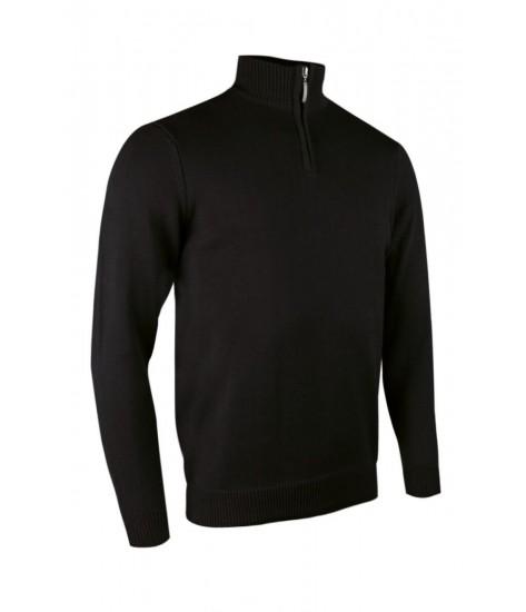 Glenmuir Zip -neck Cotton Sweater - Black