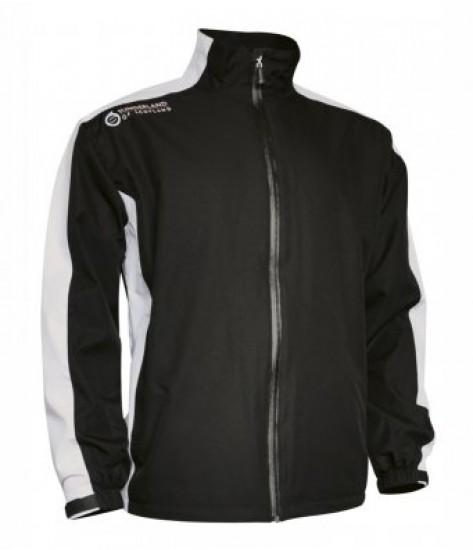 Sunderland Waterproof Jacket - Black/White/Garnet