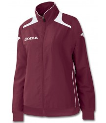 Joma Champion Ladies Tracksuit Top - Burgundy / White