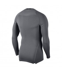 Nike Pro Crew Compression LS Top - Carbon Heather / Black