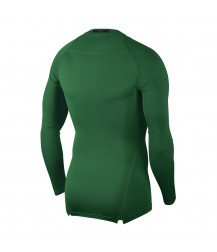 Nike Pro Crew Compression LS Top - Pine Green / Black