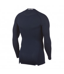 Nike Pro Crew Compression LS Top - Obsidian / White