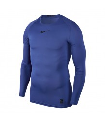 Nike Pro Crew Compression LS Top - Game Royal / Black