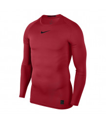 Nike Pro Crew Compression LS Top - University Red / Black
