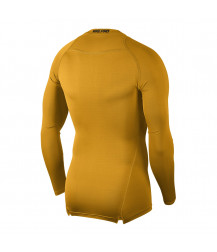 Nike Pro Crew Compression LS Top - University Gold / Black