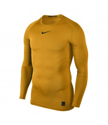 Nike Pro Crew Compression LS Top - University Gold / Black