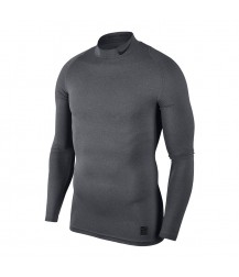 Nike Pro Mock Compression LS Top - Carbon Heather/Black