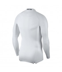 Nike Pro Mock Compression LS Top - White/Black