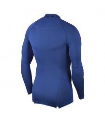 Nike Pro Mock Compression LS Top - Game Royal/Black