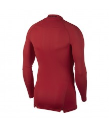 Nike Pro Mock Compression LS Top - University Red/Black