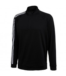 Adidas 3 Stripe 1/4 Zip Layering Top - Black