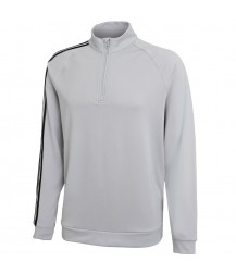 Adidas 3 Stripe 1/4 Zip Layering Top - Stone/Black