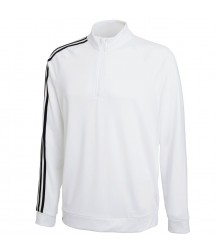 Adidas 3 Stripe 1/4 Zip Layering Top -White