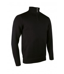 Glenmuir Zip -neck Cotton Sweater - Black