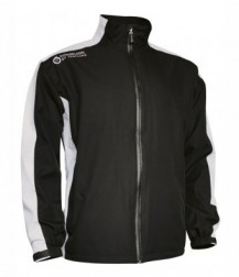 Sunderland Waterproof Jacket - Black/White/Garnet