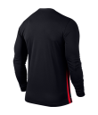 Nike LS Striped Division II Tee - Black / University Red