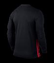 Kids Nike LS Striped Division II Tee - Black / University Red