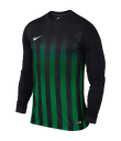 Nike LS Striped Division II Tee - Black / Pine Green