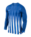 Nike LS Striped Division II Tee - Royal Blue / White