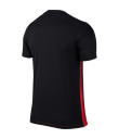 Kids Nike SS Striped Division II Tee - Black / University Red