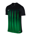 Nike SS Striped Division II Tee - Black / Pine Green